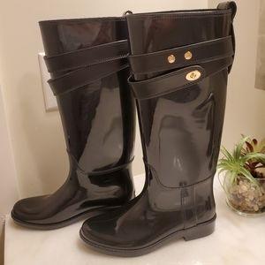 Coach size 7 Rain Boots.  EUC